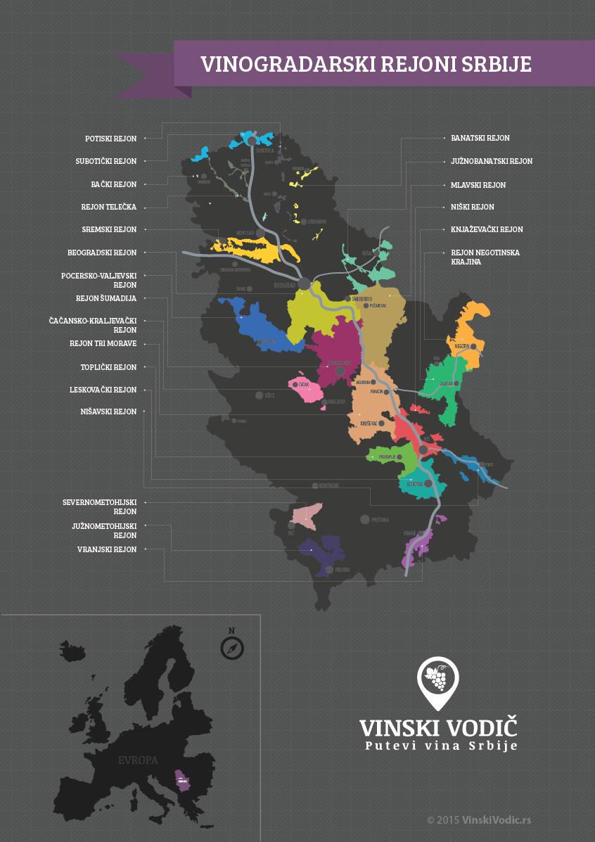 www mapa srbije rs Vinogradarski rejoni Srbije   Vinski vodič, Putevi vina Srbija www mapa srbije rs